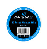 Vandy Vape- SS Fused Clapton Wire SS316L/28ga*2(=)+30ga 10ft