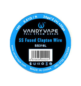 Vandy Vape - SS316 Fused Clapton 24ga*2(=)+32ga 10ft