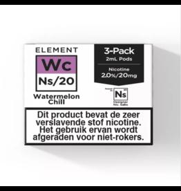 Element - Wassermelonen Chill - NS20 POD 2ML 3 x 20MG