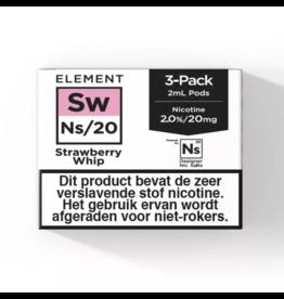 Element - Strawberry Whip - NS20 POD 3 x 2ML 20MG