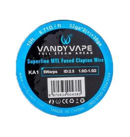 Vandy Vape Superfine MTL Fused Clapton 32GAx2 + 38GA 10ft