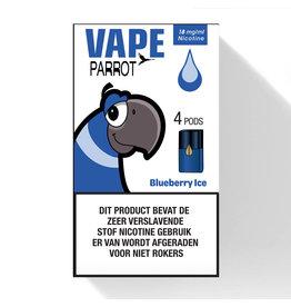 Parrot Vape Pod - Blueberry Ice - 4 Pcs