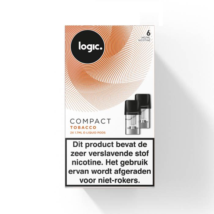 Logic Compact Pod - Tobacco - 2Pcs