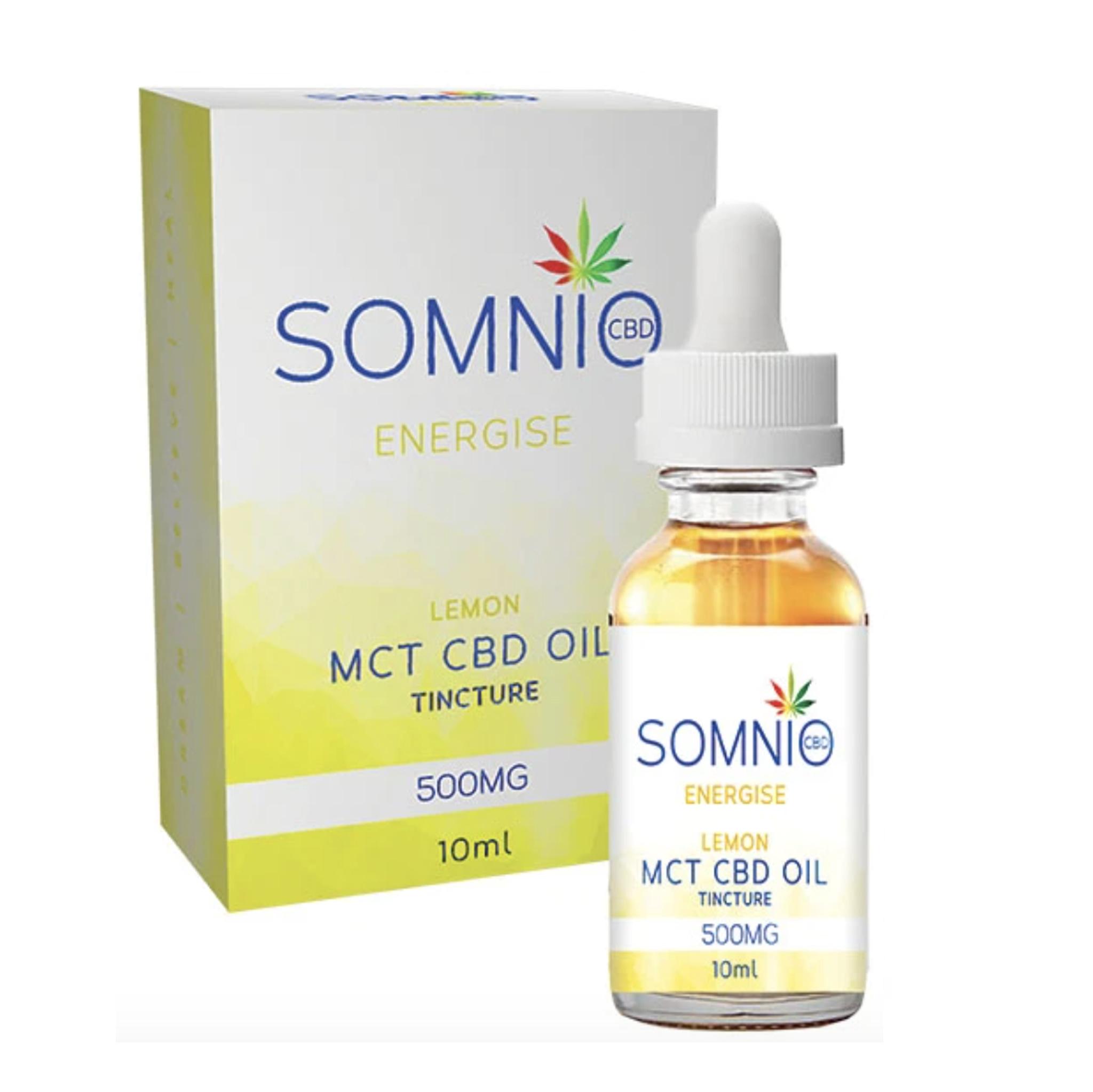 Somnio Energize MCT CBD Oil Tincture: Lemon - 10ml