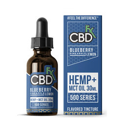 CBD + FX Hemp MCT Oil Tincture Blueberry Pineapple Lemon - 30ml