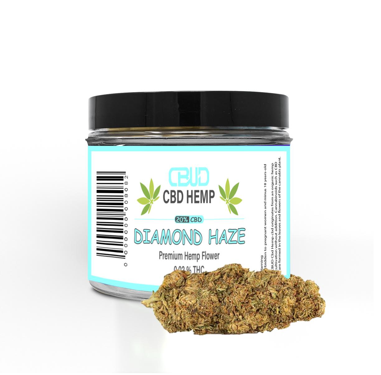 CBUD Flower - Diamond Haze - 20% CBD < 0.2 THC