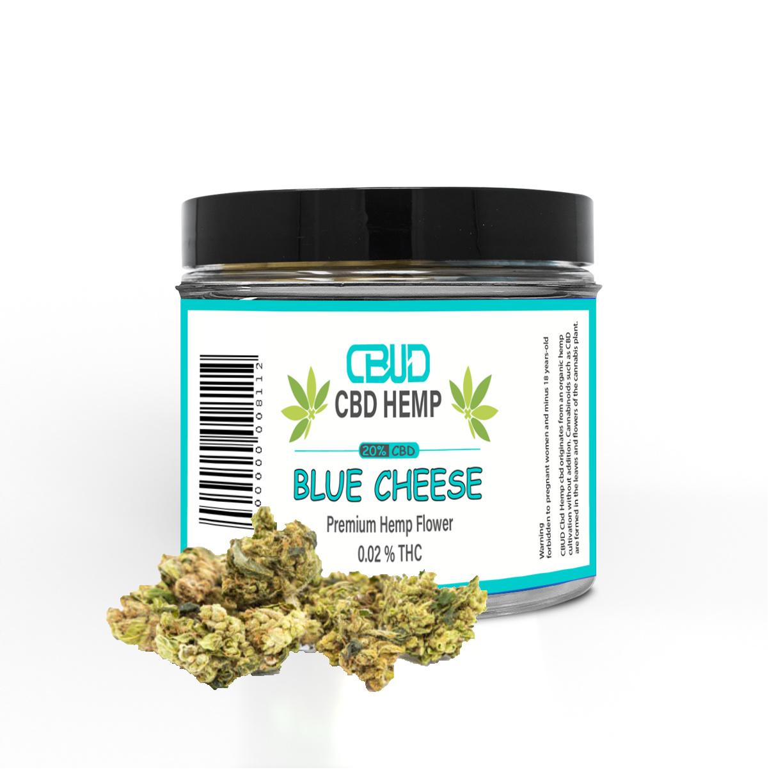 CBUD Flower - Blue Cheese - 20% CBD < 0.2 THC