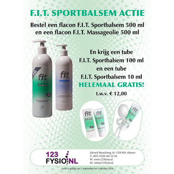 F.I.T. (FIT) F.I.T. Sportbalsem Actie Pakket