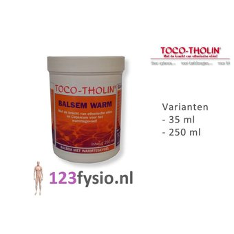 Toco Tholin Balsem Warm 35 ml & 250 ml