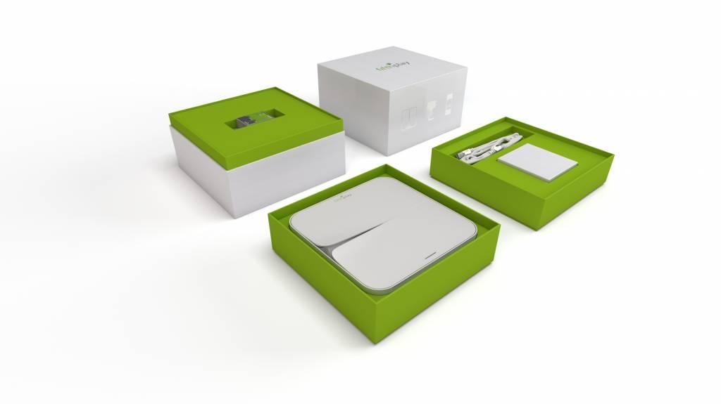 fifthplay cube – starterkit incl. meetmodule en smartphone app - meet de energieproductie van jouw zonnepanelen en verwittigt je bij een rendementsdaling