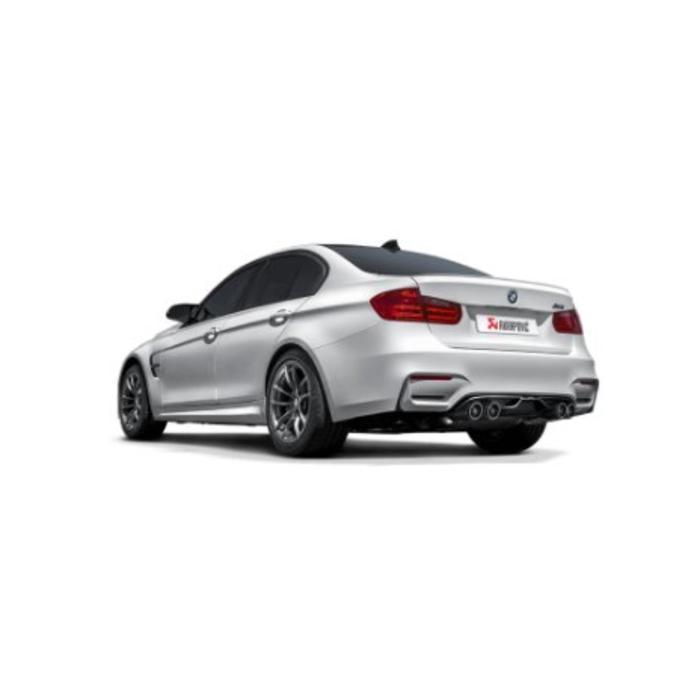 Akrapovic Slip-On Line Titanium/Carbon voor de BMW M3 (F80)