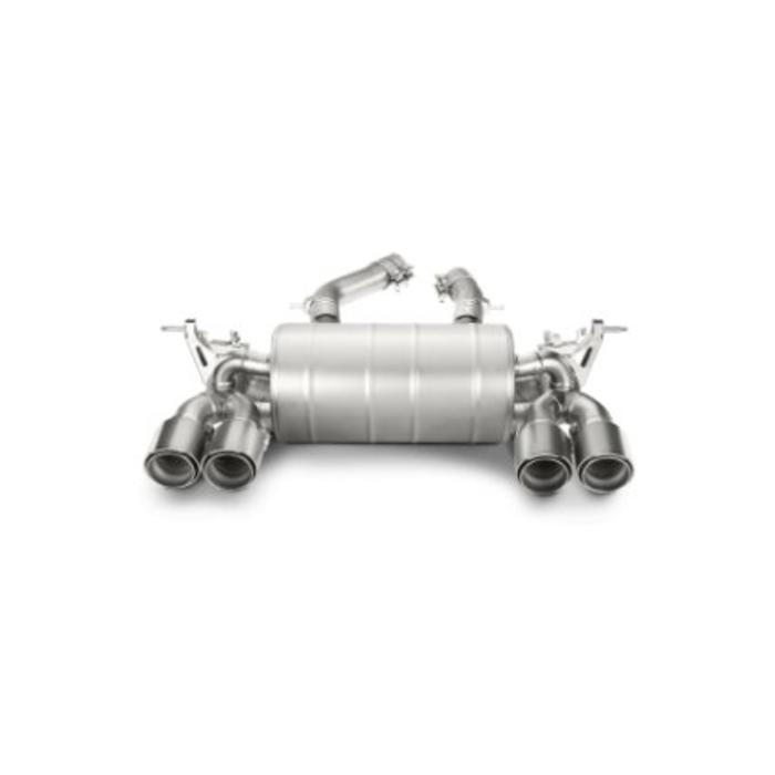 Akrapovic Slip-On Line Titanium/Carbon voor de BMW M4 (F82-83)
