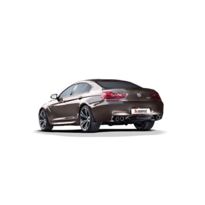 Akrapovic Evolution Line Titanium/Carbon voor de BMW M6 Gran Coupe (F06)