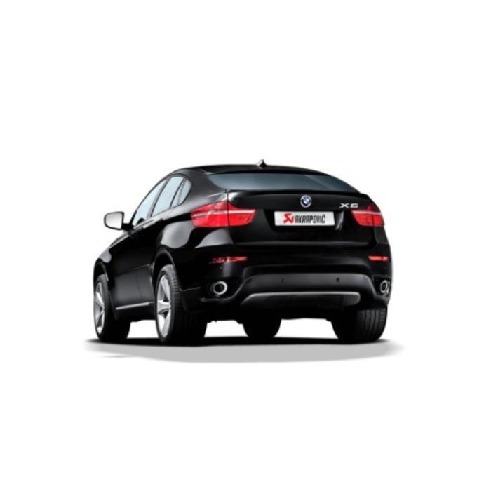 Akrapovic Tail Pipe set Carbon voor de BMW X6 (E71)
