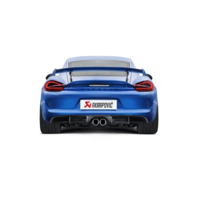 Cayman GT4 (981) Slip-On Line Titanium voor de Porsche