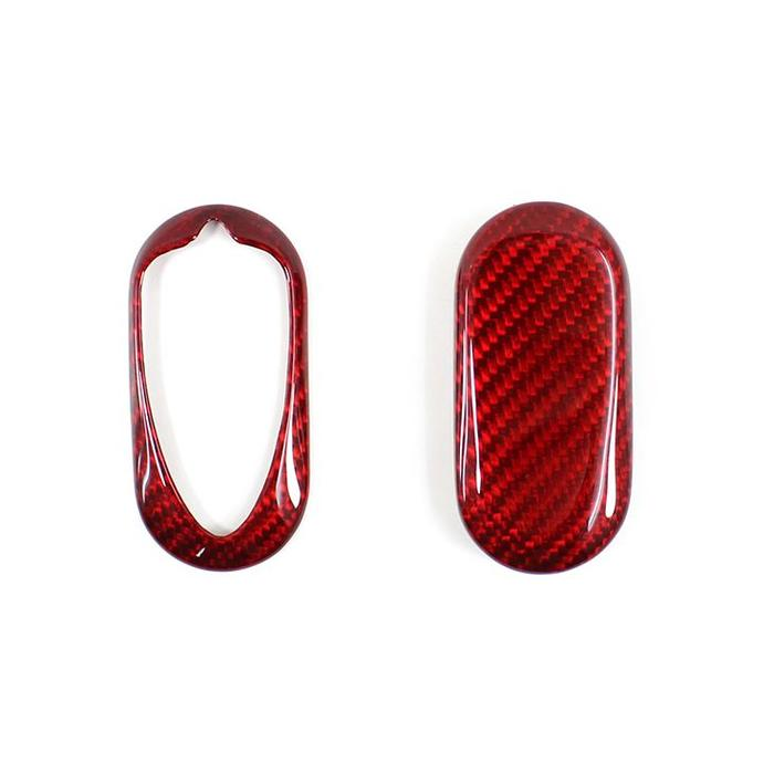 Giulietta key cover in rood carbon