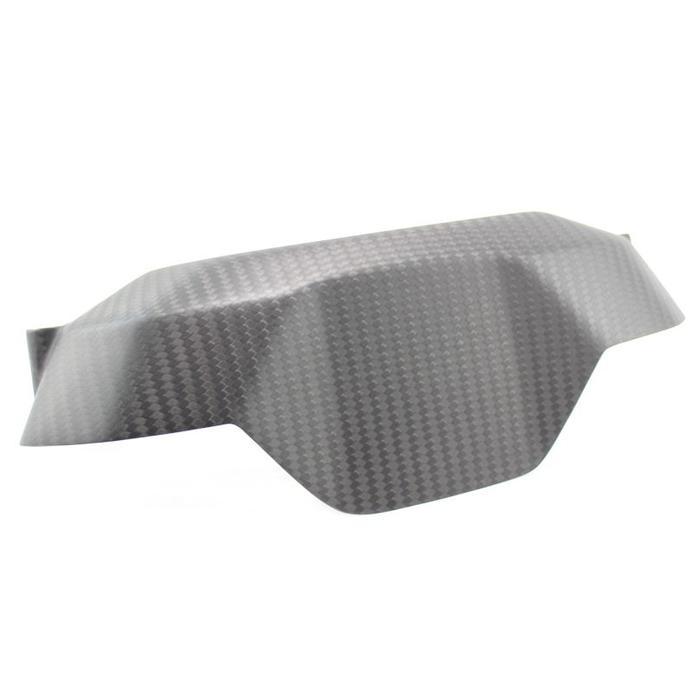 4C achterkant instrument gauge cover in mat carbon