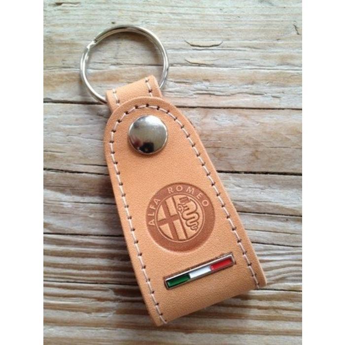 Sleutelhanger Alfa Romeo naturel