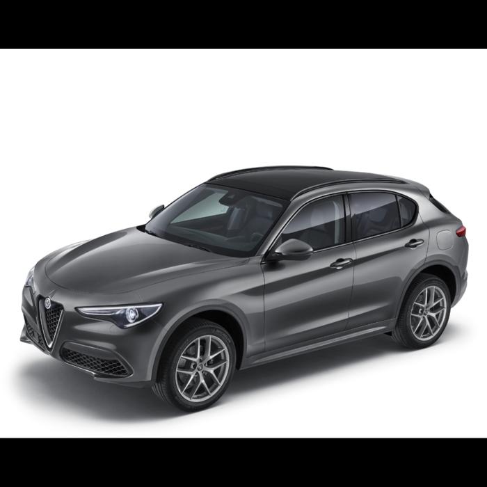 Alfa Romeo Stelvio roofrails zwart - glazen dak