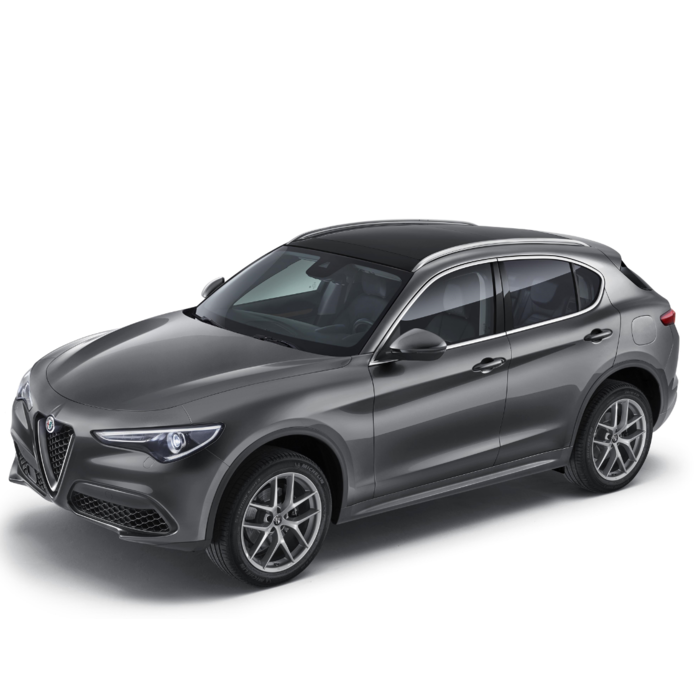 Alfa Romeo Stelvio roofrails zilver - glazen dak