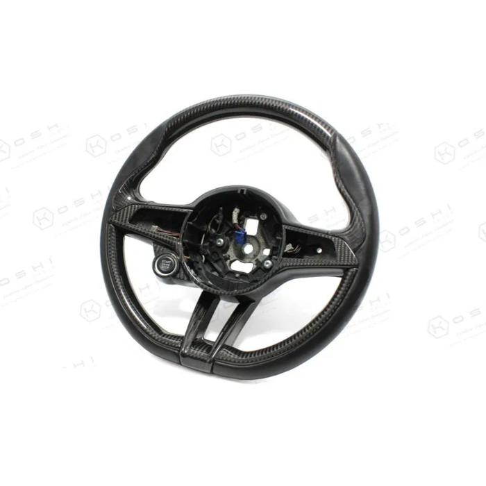 Q lower part steering wheel carbon