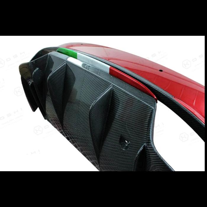 Carbon strip italian flag