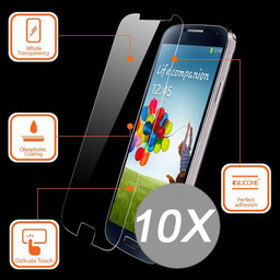 10x Tempered Glass Protector Xperia E4