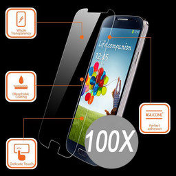 100X Tempered Glass Protector S7 Edge
