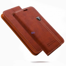 Natural Leather Book Case Galaxy Note5