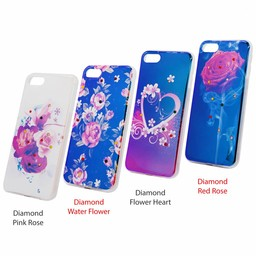 Mix 3x Print Diamond Ring TPU Case Galaxy J330 (2017)