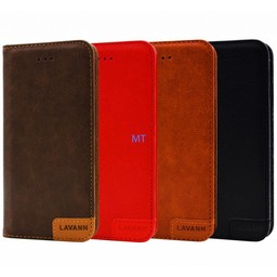 Lavann Lavann Leather Book Case For I-phone 8 Plus