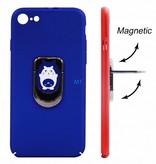 Cat Print Magnetic & Holder Case i-Phone 7/8