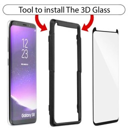 A+ Full Glue 3D Glass Fit Adjust Galaxy S8 Plus