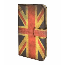 Book Case Flag UK For I-Phone 4G