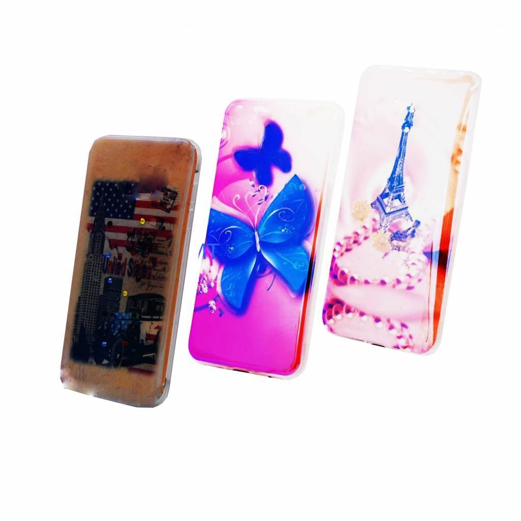 3 Pices Mix TPU Print Galaxy S7 Edge