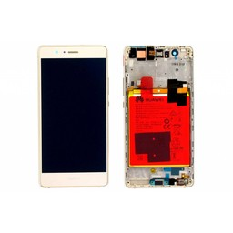LCD / Frame & Battery Huawei Ascend P9 Lite White-02350SLF