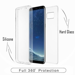 360 Fully PC + Glass Case For I-Phone X