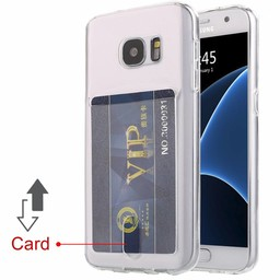 Card Anti Shock Silicone For I-Phone 7 Plus & 8 Plus
