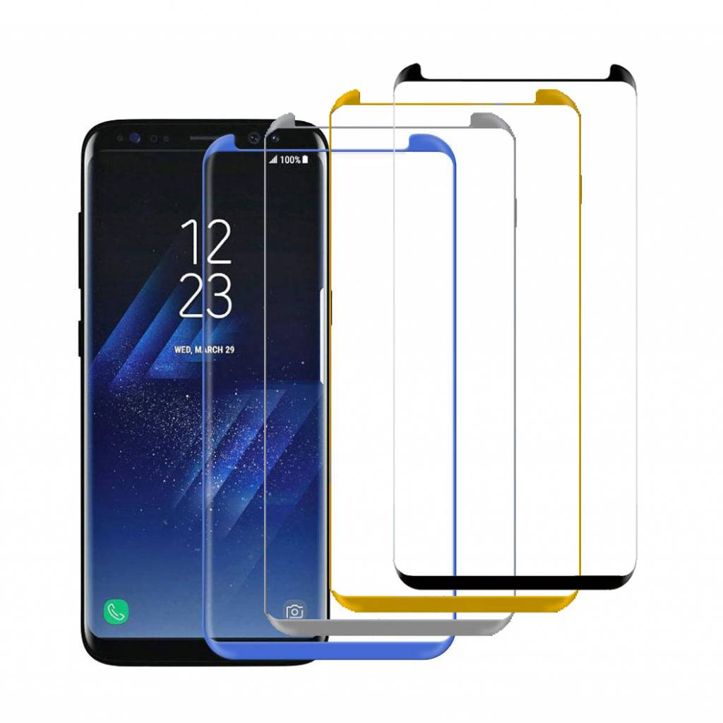 Small Glass Protector 3D Curved Galaxy S8
