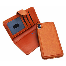 2 in 1 Leather Pelle Wallet Case For I-Phone X & XS