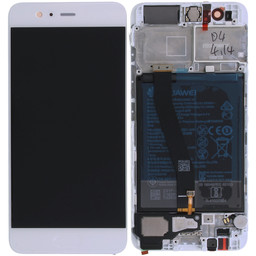 LCD Huawei P10- Frame + Battery  02351ENH  Gold/White