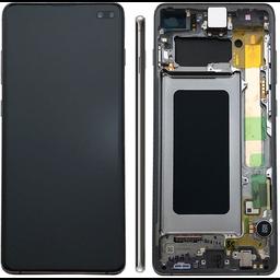 LCD SAMSUNG GALAXY S10 Plus G975F Black / Ceramic Black GH82-18849A