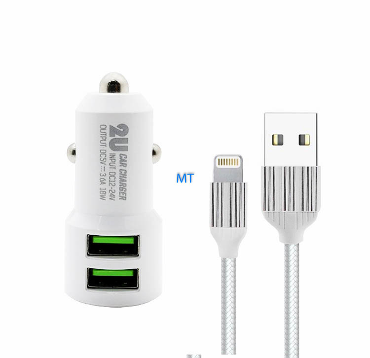 LDNIO 3.6A Lightning Double USB Car Charger C309