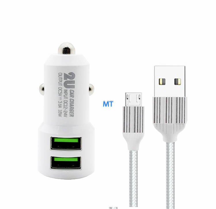 LDNIO 3.6A Micro Double USB Car Charger C309
