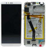 LCD + Frame & Battery Huawei Y6 2018  02351WLK  White