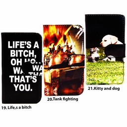 Print Bookcase Galaxy S6  Kitty and Dog