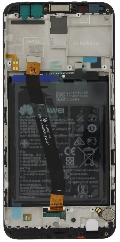 LCD + Frame & Battery  Huawei Mate 10 Black 02351QAH