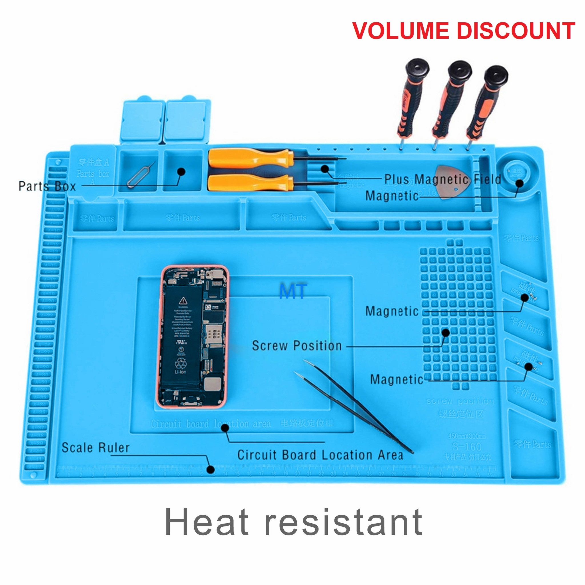 Magnetic Heat-Resistant Working Mat (S160)