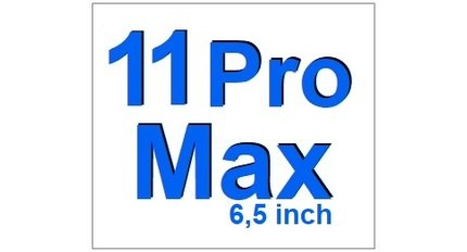 For I-Phone 11 Pro Max 6,5 inch