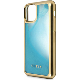 Guess For I-Phone 11 Pro 5.8''  Liquid Glitter Hard Case Glow GUHCN58GLTRBL